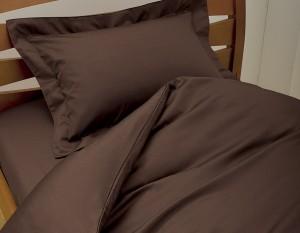 茶色の布団カバー