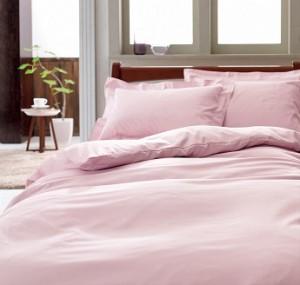 ピンクの布団カバー